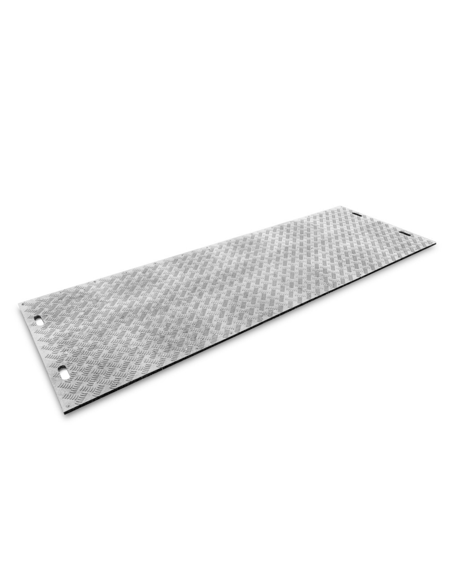Kunststof rijplaat 300x100x2cm - 1 zijde profiel