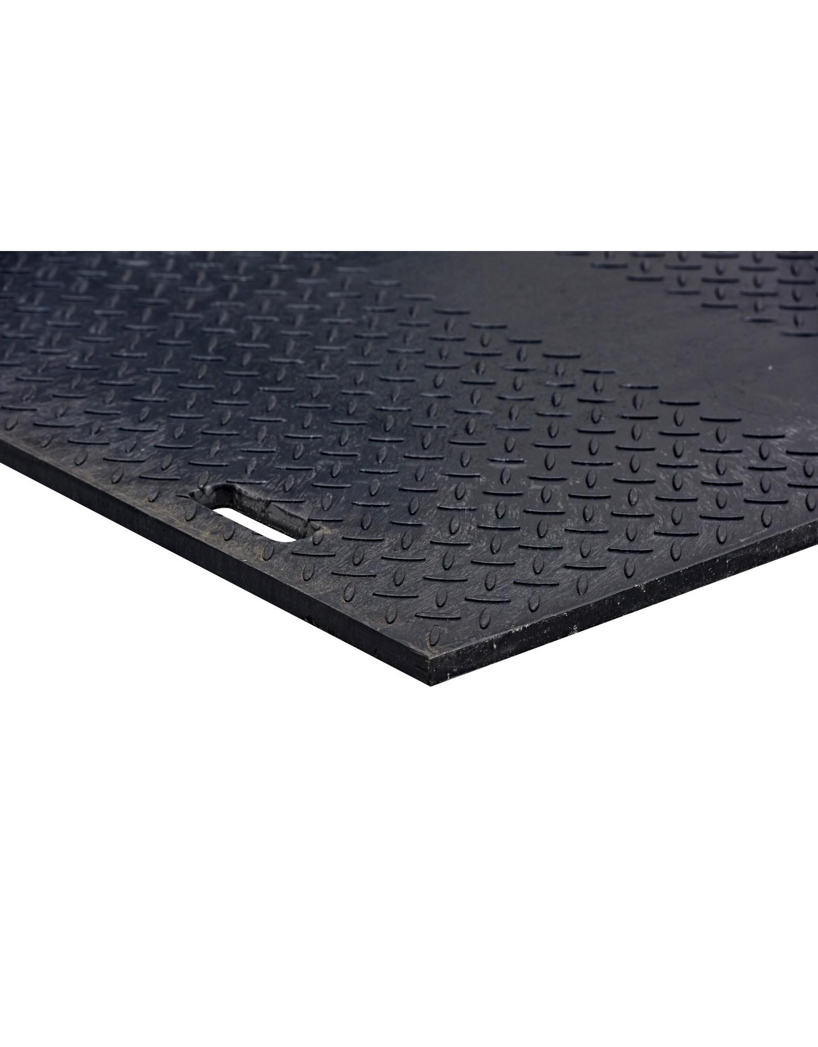 PREMIUM kunststof rijplaat 300x100x1,5cm - HD - Zwart
