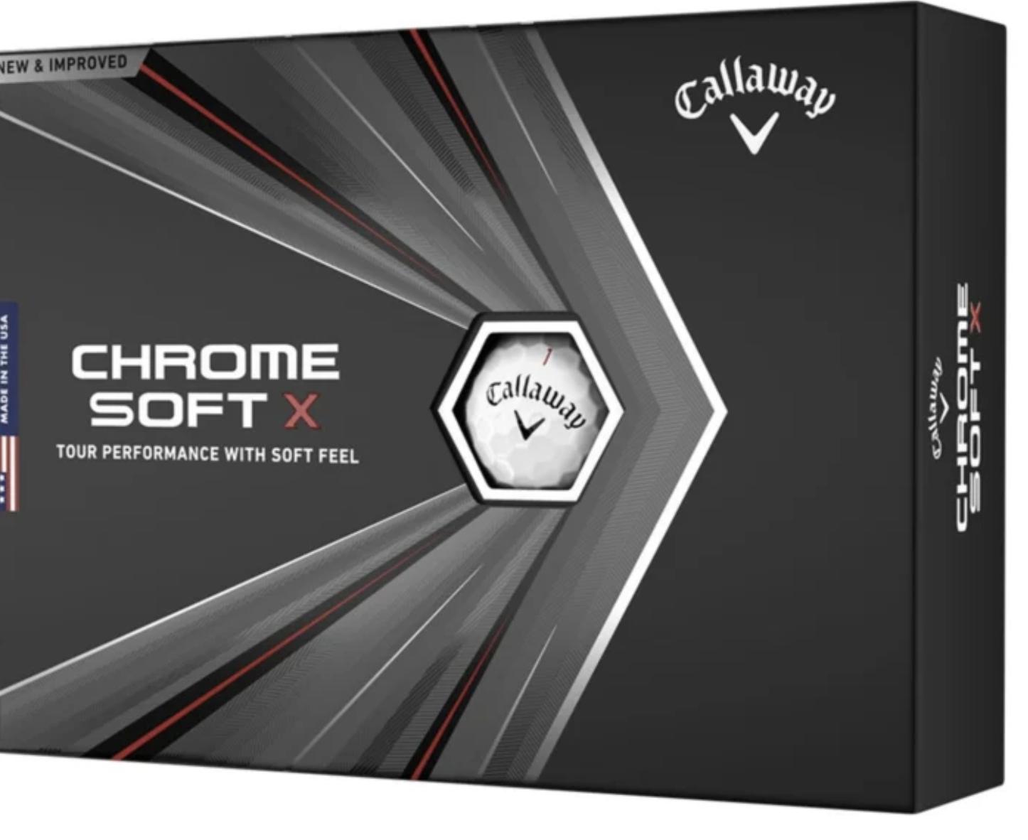 Callaway Callaway Golfballen Chrome Soft X wit, Dozijn