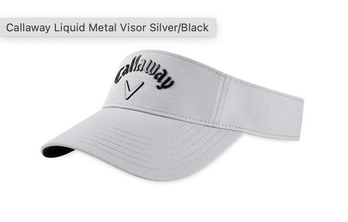 Callaway Callaway Liquid Metal Visor, Wit