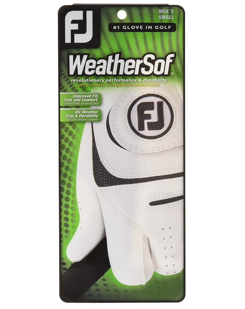 Footjoy Footjoy Weathersof heren golf handschoen Links wit