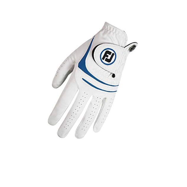 Footjoy Footjoy Weathersof heren golf handschoen Links wit-blauw