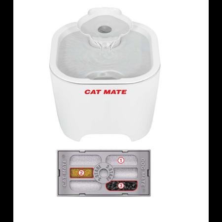 Catmate Shell Pet Fountain white