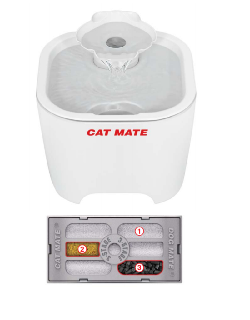Catmate Shell Pet Fountain white