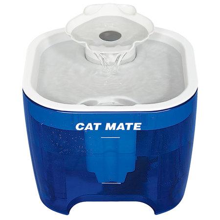 Catmate Drinkfontein met schelp Titanium 3  liter blauw met wit