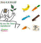 King Catnip Wortel hervulbare kattenspeeltje handgemaakt
