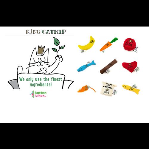King Catnip Hartje hervulbare kattenspeeltje handgemaakt