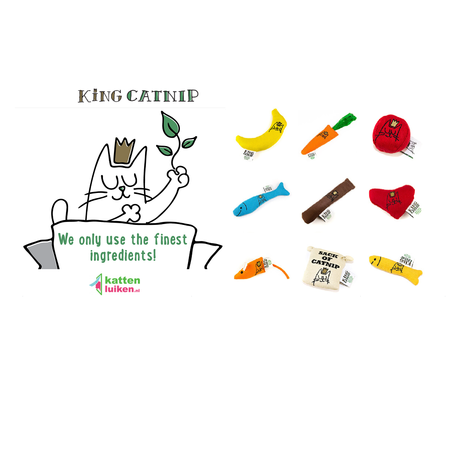 King Catnip Klein Visje hervulbare kattenspeeltje handgemaakt