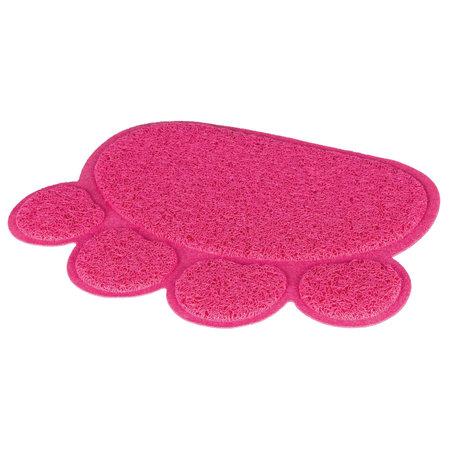 Trixie Schoonloopmat voor Kattenbakken roze poot