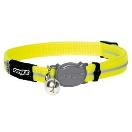 Rogz beltz AlleyCat Halsband Small Dayglo yellow