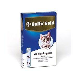 Bolfo Bolfo Gold Kat 40 tot 4 kg  2 Pipet