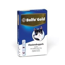Bolfo Gold Kat 80  voor 4 kg en zwaarder  2 Pipet