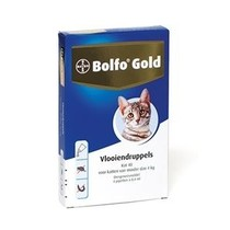 Bolfo Gold Kat 40 tot 4 kg  4 Pipet