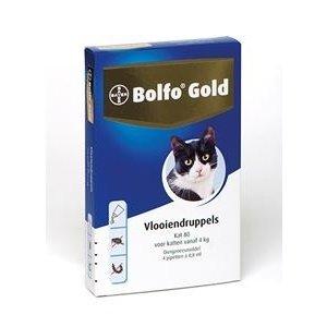 Bolfo Bolfo Gold Kat 80  voor 4 kg en zwaarder  4 Pipet