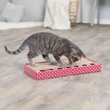 Trixie Krabkarton roze met 2 speelballetjes