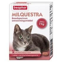 Milquestra wormtabletten kat vanaf 2 kg,  2 tabletten