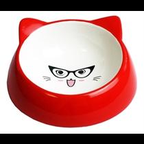 Voerbak kat speciaal rood