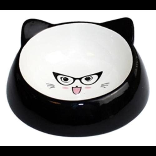 Voerbak kat speciaal zwart
