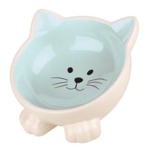 Voerbak kat  Orb blauw