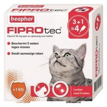 Beaphar Fiprotec cat 3+1 vlooienpipet
