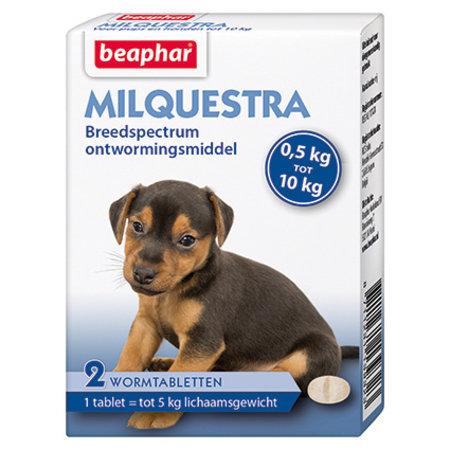 Beaphar Milquestra wormtabletten  Hond Klein en Pup