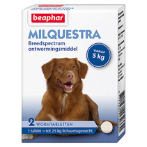 Milquestra  wormtabletten  Hond  vanaf 5 kg  2  stuks