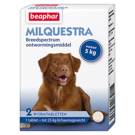 Beaphar Milquestra  wormtabletten  Hond  vanaf 5 kg   2  stuks