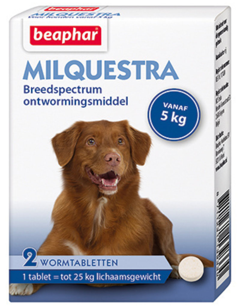 Beaphar Milquestra Wormtabletten Hond - 2 tabletten