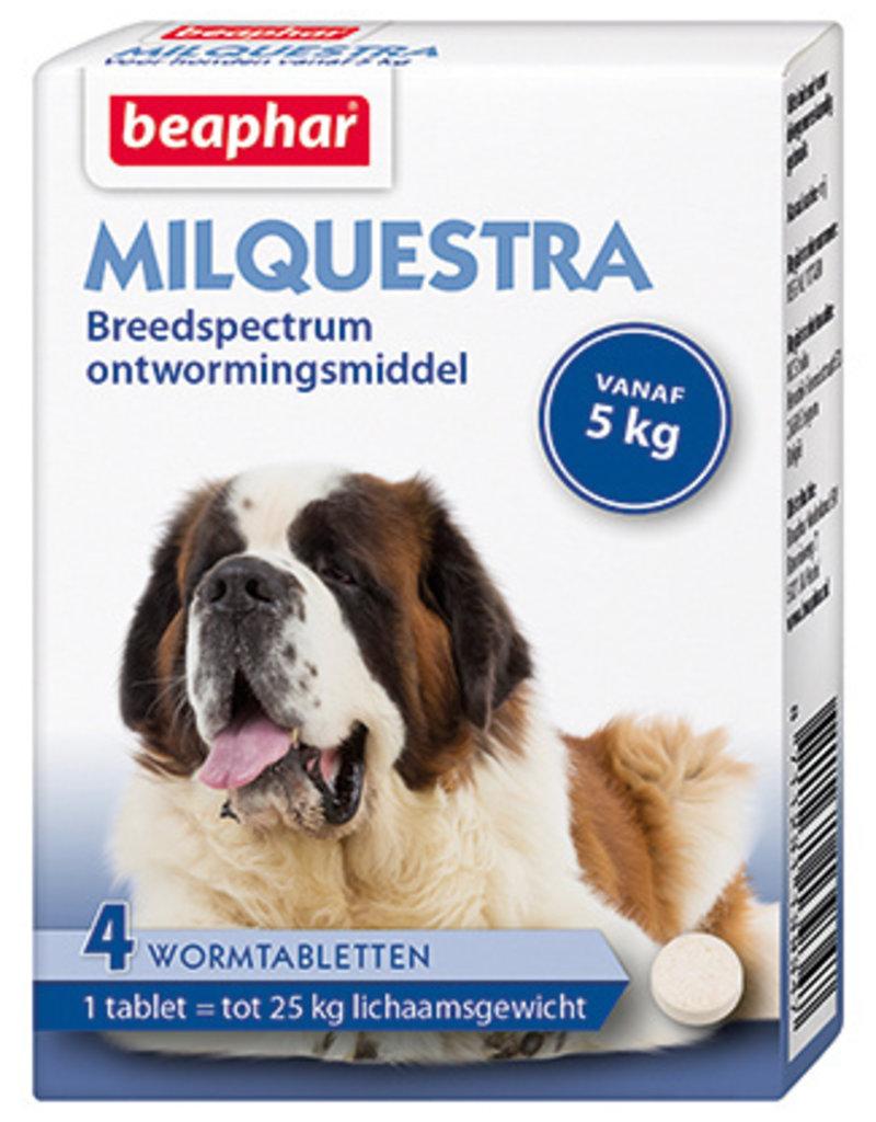 Beaphar Milquestra Wormtabletten Hond - 4 tabletten