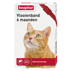 Beaphar Vlooienband Kat - Rood