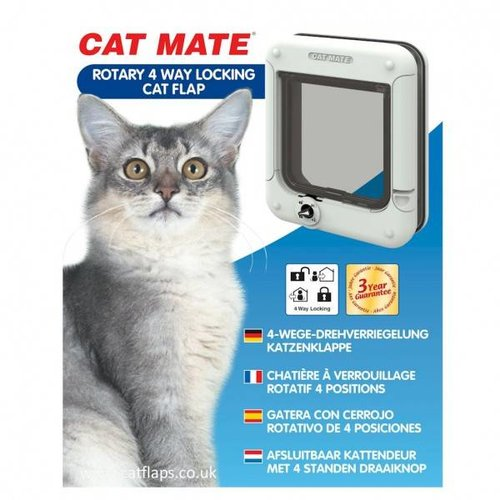 Catmate Kattenluik 358 - Rotary Wit