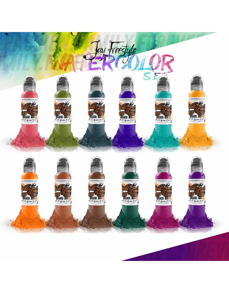 Jay Freestyle Watercolor Set | 12x30ml