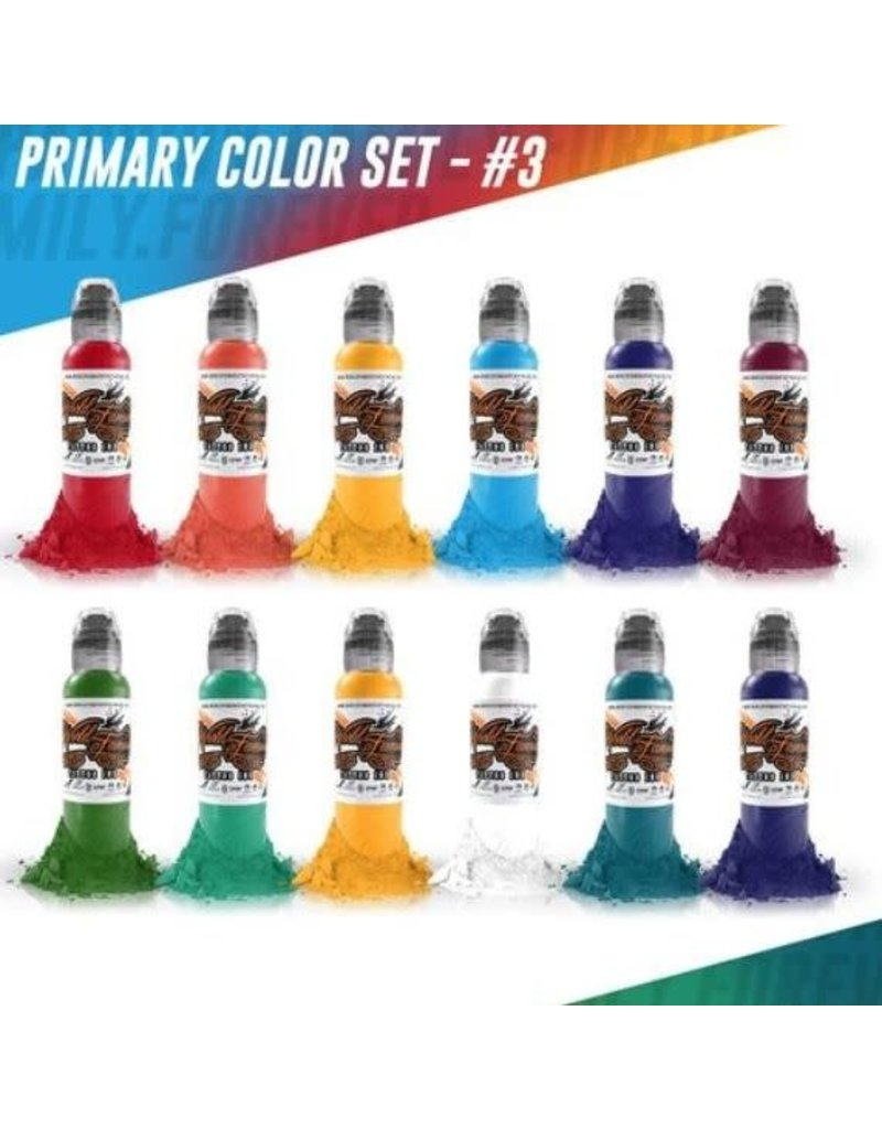 World Famous World Famous Primary Color Ink Set #3 | 12 x 30ml