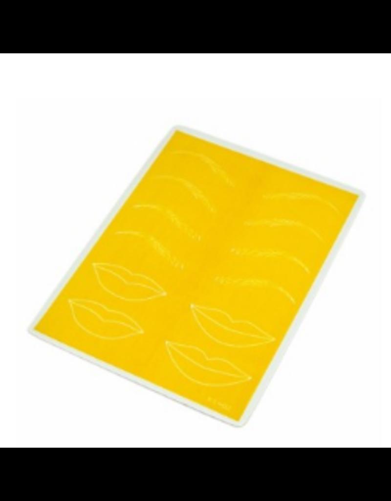 Practice Skin PMU Brows & Lips - Yellow