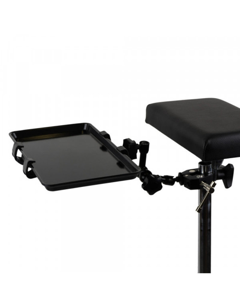 Holder With Steel Shelf Mounted To The Armrest - Black
