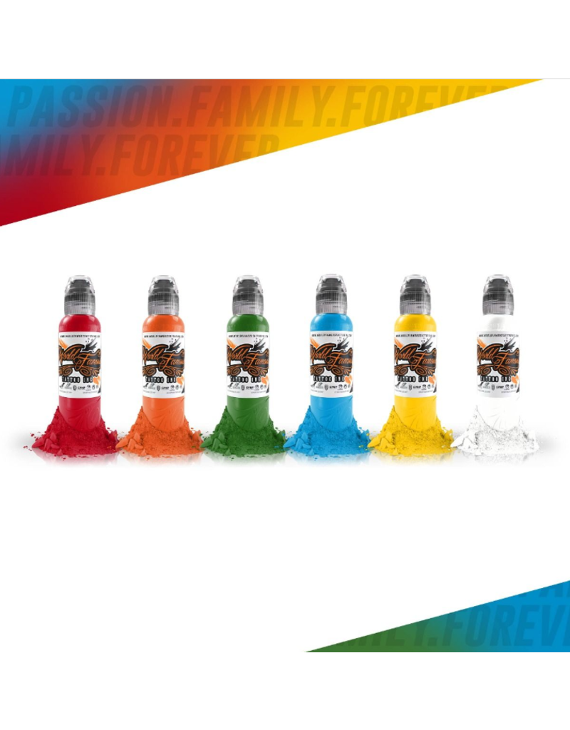 World Famous Primary Simple Ink Set 6x30ml