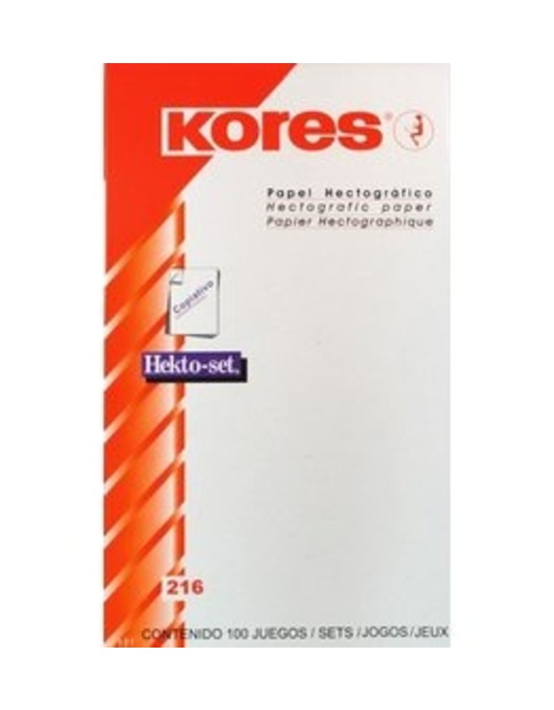 Kores Kores Hectographic Paper single