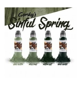 World Famous WORLD FAMOUS INK DAMIAN GORSKI SINFUL SPRING SET 4X30ML EX  14/05/21