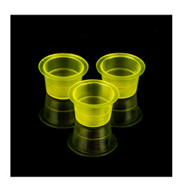 Unistar INK CUPS CLEAR YELLOW - 500 PCS