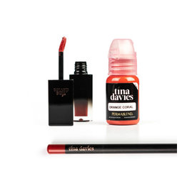 Perma Blend Perma Blend - Tina Davies LUST Lip -  ORANGE CORAL Set - Ink+Blush+Pencil