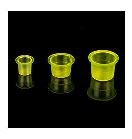 Unistar INK CUPS CLEAR YELLOW - 500PCS