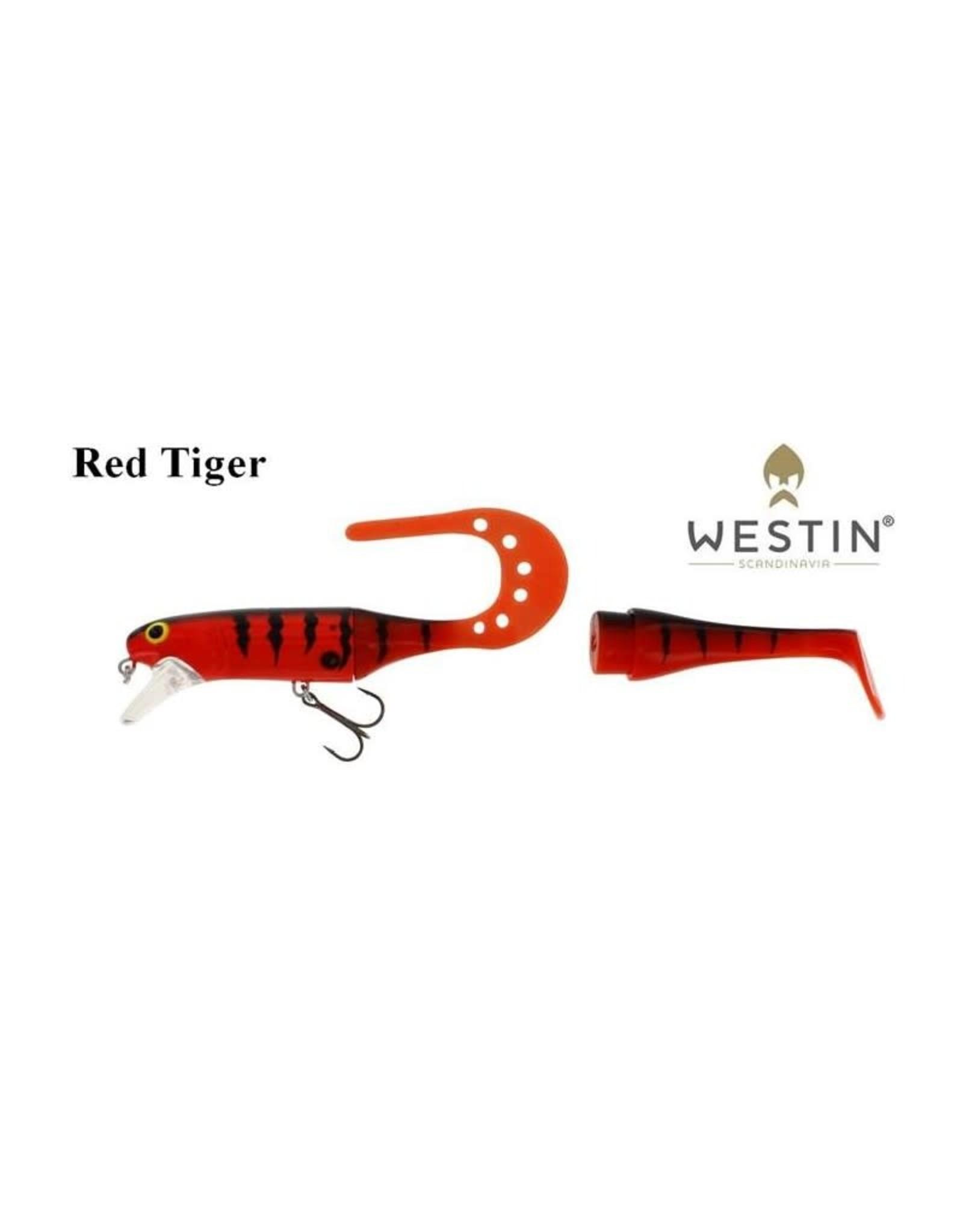 Westin Westin JÄTTE Teeztail 140mm 29G Floating Red TIGER