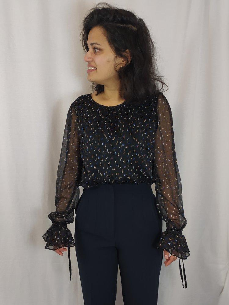 Harper & Yve Chique blouse - zwart goud confetti