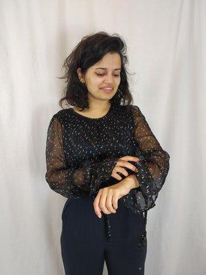 Harper & Yve Chic blouse - black gold confetti