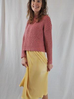 Bershka Knitted sweater - rose pink