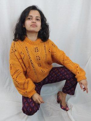 Gehaakte trui - oranje