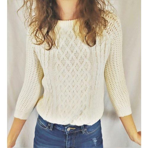 Zara Knit Knitted sweater - white
