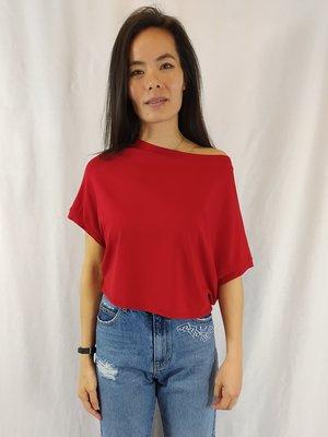 Cora Kemperman Off-shoulder shirt - rood basic