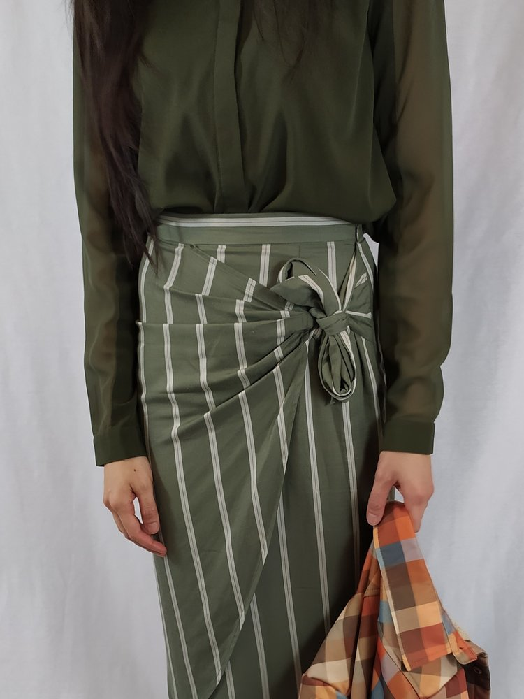 French Connection Chic blouse - army green