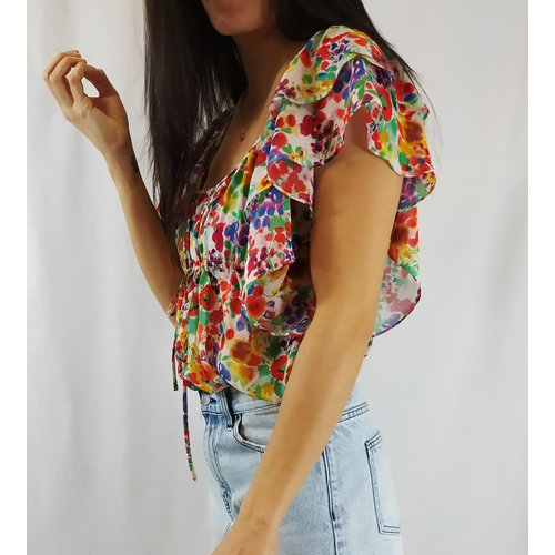 H&M Flower top - colorful